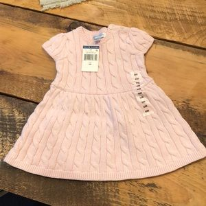 NWT 6 months sweater dress light pink